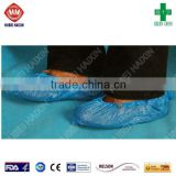 Disposable capsule pe/cpe shoe cover, plastic covers elastic