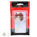 Cell phone plastic packaging bags mobile phone accessories bags with ziplock and wing hole