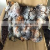 Fancy Silver Fox Fur Pillow Case Red Fox Fur Sofa Cushion Luxury Red fox Home Textile Fur Pillows