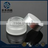 20ml Frosted cosmetic glass jars with matte silver lid                                                                                                         Supplier's Choice