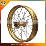 Gold Sand blasting WV 40 Holes 17 inch Motorcycle Alloy Rims