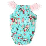 SALE!!! Novel style Romper, baby girl's cotton romper with lace cap sleeve romper