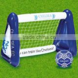 outdoor inflatable floating toy football goal post for children