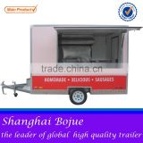 European Quality, Chinese Price mobile kitchen food trailer 4 wheels electric food truck hot dog food vending carts