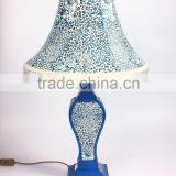 Table lamp Blue panther print Table lamp resin crafts