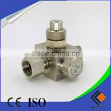 China manufacture low price SF6 Gas Valves SF6 Self-sealing plug valve