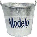 Beer Bucket Hot Dip Galvanized Tin Metal Pail
