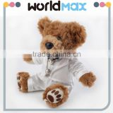 New Arrival Most Popular White Suit Teddy Beach Toys For Girls