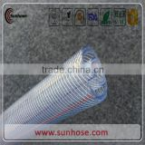 Clear PVC Fiber Reinforced Hose plastic Braided hose pipe