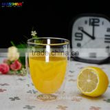 Elegant Clear Mouthblown Double Wall Glass Heat Resistance Borosilicate Coffee Tea Milk Glass Cup