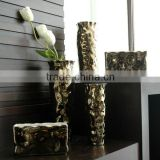 Shining gold beautiful flower vase for home hotel offic decoration vase,gold flower vase
