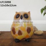 Solar outdoor garden decor transparent owl ornaments