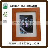 high grade white cardboard photo frame 8x10 wall photo frame sets cardboard photo frame display