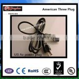 USA 3 pin NEMA Wire Plug electrical wire with plug 3 pin top (UL/CSA certified) AC Power plug with AC Cable cord