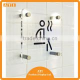 High quality factory wholesale acrylic sign holders for WC