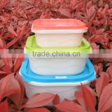 Foldable Square lunch box folding bowl with cover candy color fresh-keeping box Microwave oven box