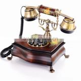 Home Wood Vintage Corded Telephones, Antique Decorative Telephone, China Antique Telephone