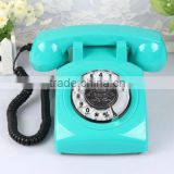 Vintage Style Classic Rotary Retro Telephone Landline Phone With Sim Card