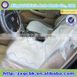 ZHIXIA adjustable clear plastic car seat covers/Disposable car seat cover