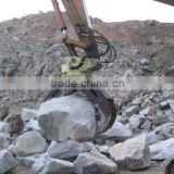 High quality excavator grapple;360 degree Rotation Durable and Safety Excavator Rock Grapple