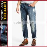 men fashion jeans trousers slim fit man denim jeans pents d jeans washed jeans plus size ripped skinny jeans(LOTD112)