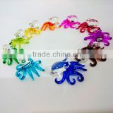 Tiny Octopus Hand Painting Rainbow Multicolor Blown Glass Art Figurines Home Decor / Sea Ocean Collection