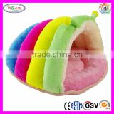 F121 Plush Stuffed Cat Bed, House, Cave, Nap Cocoon, Caterpillar Shaped Pet Toys Cat Scratcher
