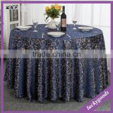 Hotel and restaurant use royal blue printing 132 round table cloth wholesale