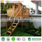 Outdoor Kids Wooden Playhouse with Platform
