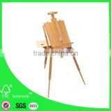 French box easel extal large/wood sketched-box easel palette&belt/woodenpainting easel