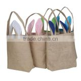 Wholesale DIY Easter Bunny Treat Bag Burlap Rabbit Gift Bag