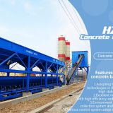 HZS60 Concrete Batching Plant - 60M3/H Twin Shaft Mixer Hzs60 Belt Conveyor Fixed Ready mixing station