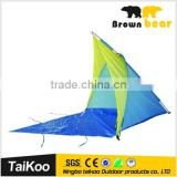 Compact wind proof beach tent