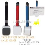 Screen Touch Pen With Screen Cleaner and card holder