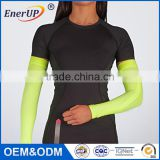 China made spandex Custom nylon compression sports cooling arm sleeves cover UV sun protection
