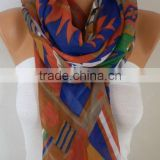 Southwestern Scarf Bohemian Scarf Aztec Scarf Tribal Scarf Shawl Multicolor Cotton Scarf Gift Ideas For Her Women Fashion Access