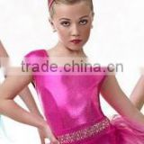 New arrival kid cute jazz dancewear -- fashion carnival costume-hot pink jazzdancecostume