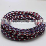 100meters Contrast Color 1mm Genuine Cow Hide Cord String Braided Leather Rope For Jewelry Making