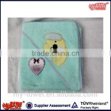 high quality cotton baby hooded towel
