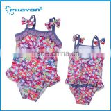 < OEM> fancy design boutique one piece party dress one piece swimwear Baby Girl One piece Playsuit
