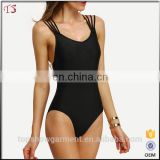 New product strappy crisscross back woman sexy one piece swimwear