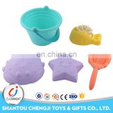 Funny summer sand toys plastic kids mini beach bucket