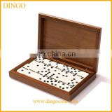 Wooden Box Packing Domino Set with Custom Printing