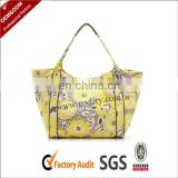 Elegant Zipper gold tote bag