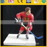 hockey player action figure, custom ice hockey figurine, oem plastic figure maker