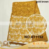 Low Price gold african lace fabric
