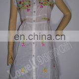 COTTON CHIKEN EMBROIDERED TUNIC / TOP / INDIAN KURTI