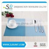 Free sample blue and white matts placemat with PVC