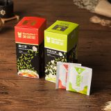 Private label organic double chambered Green tea bags wholesale