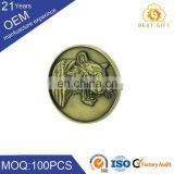 China factory titanium badge skull blinking badge